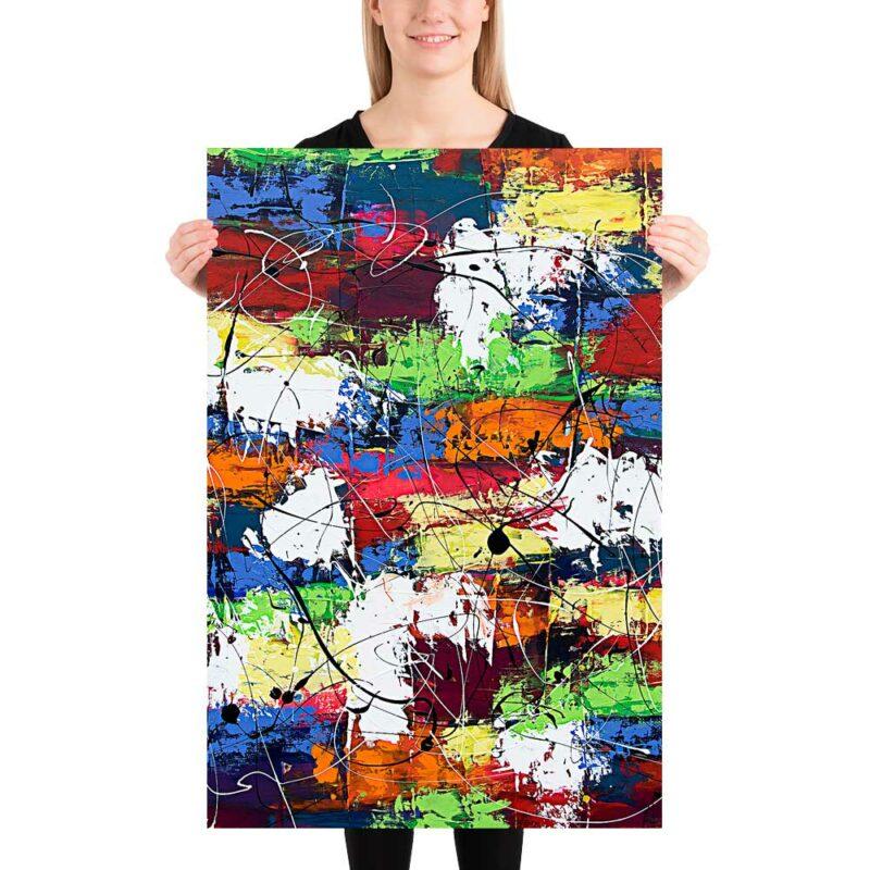 Stilvolle Kunstplakate für die Wohnzimmerwand Vibrant Moor I 60x90 cm