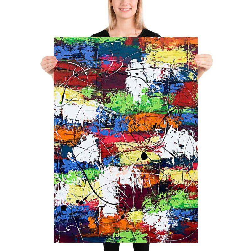 Wunderschöne Poster mit Kunst Design in schöne Farben Vibrant Moor I 70x100 cm