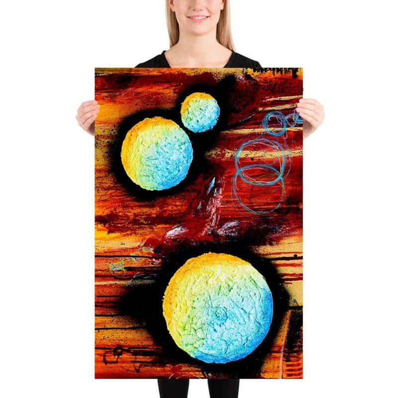 Attraktives Kunst Plakat für die Wand im Wohnzimmer Sphere II 60x90 cm