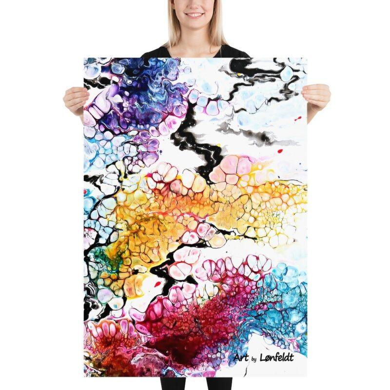 Große Poster XXL mit schönen Farben Altitude I 70x100 cm