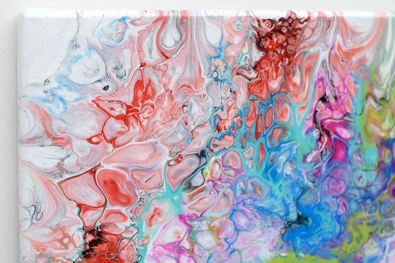 Abstrakte Acrylmalerei in ausgesuchten Materialien in Galerie Qualität Fusion III 70x140 cm