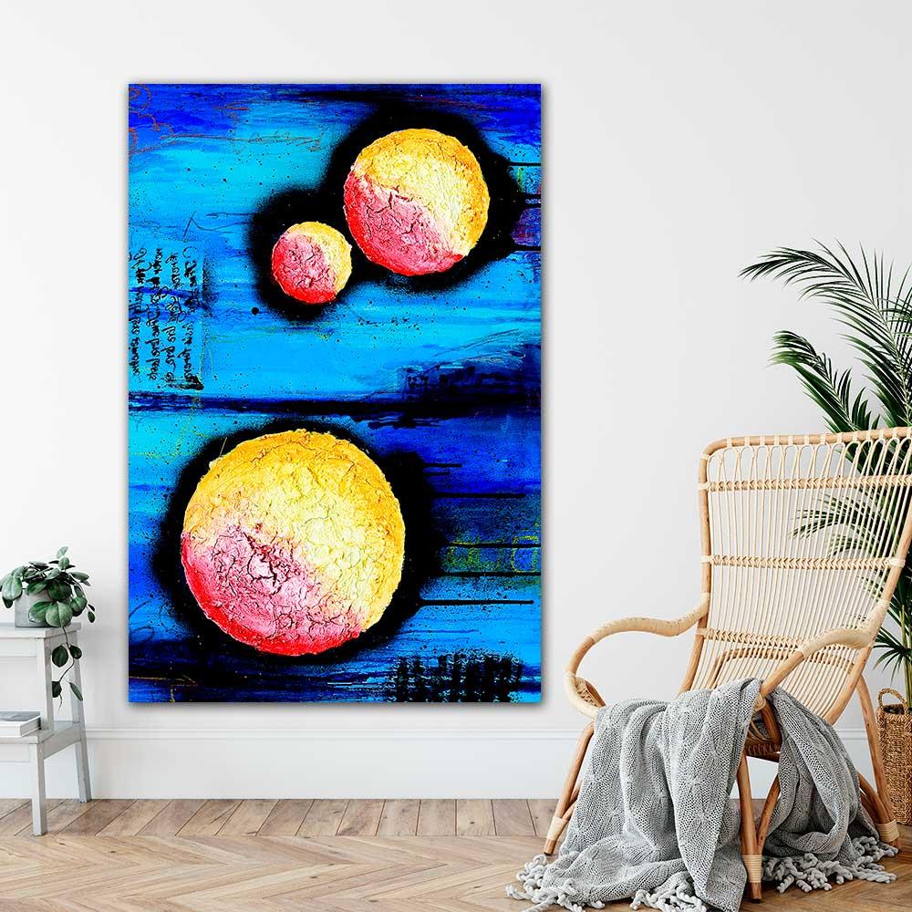 Ansprechende Art Prints mit abstrakter Kunst für Zuhause Sphere I 100x150 cm