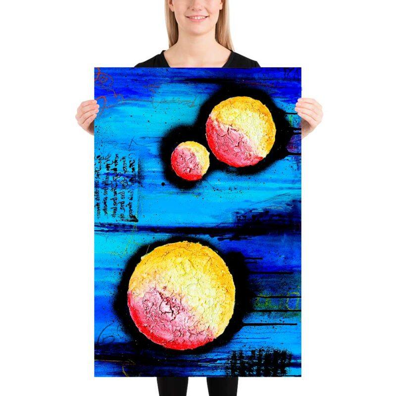 Ansprechende Wand Poster mit moderner Kunst Sphere I 60x90 cm