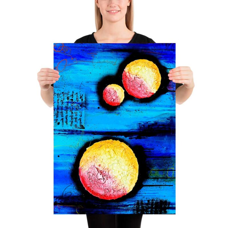 Anziehendes Kunst Poster mit abstraktem Motiv Sphere I 50x70 cm