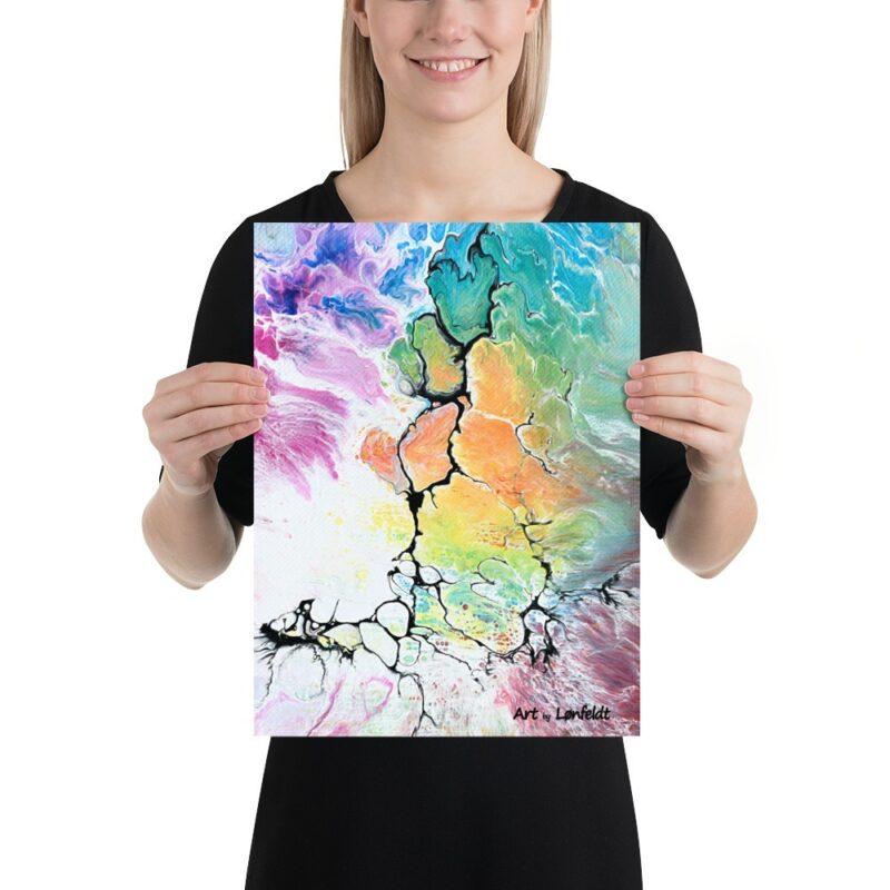 Bilder mit abstrakte Kunst für das Badezimmer Altitude IV 30x40 cm