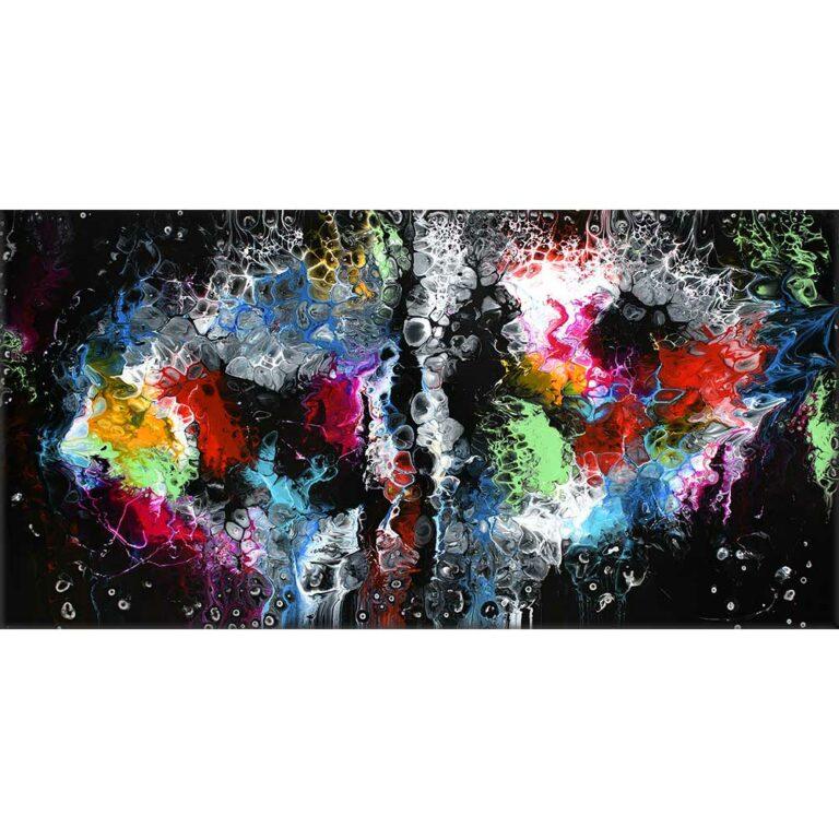Echte Acrylmalerei online kaufen Lights I 70x140 cm