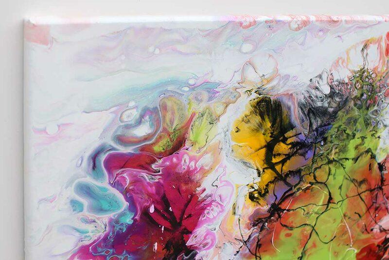 Elegante Details von einem modernen Wandgemälde Fusion I 70x140 cm