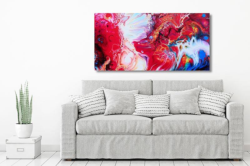 Farbige Wandbilder in roten Farbtönen Essentials II 70x140 cm