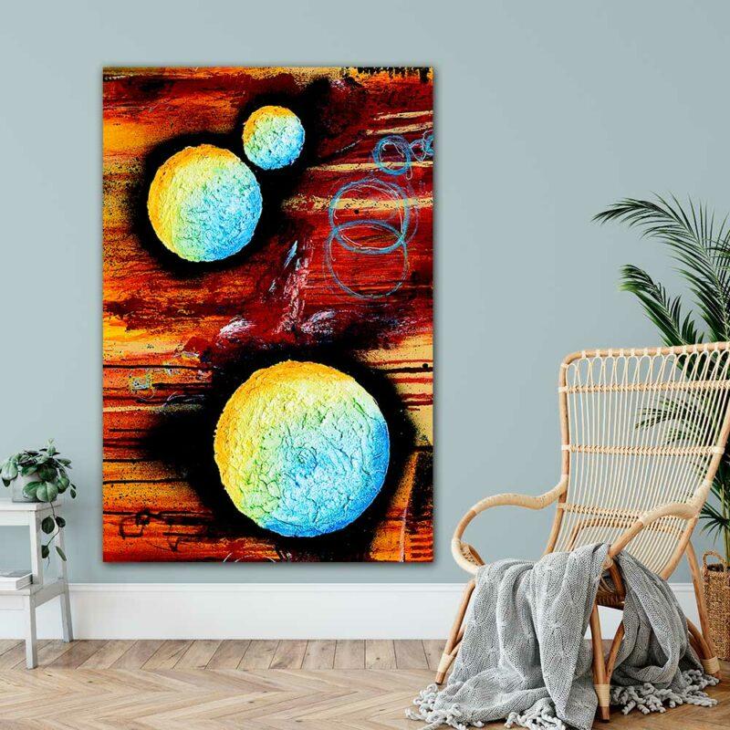 Große Moderne Kunst Plakate XXL Sphere II 100x150 cm