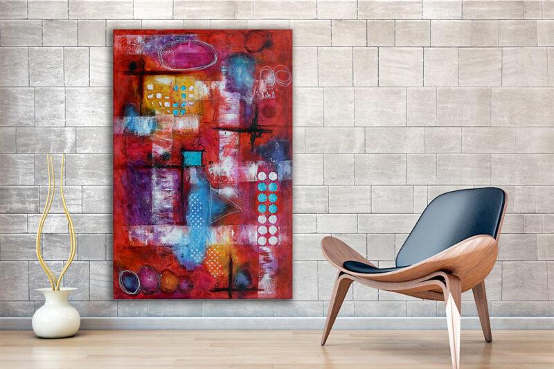 Große Wandbilder XXL sind eine stilvolle Dekoration im Wohnzimmer Intuition I 150x100 cm