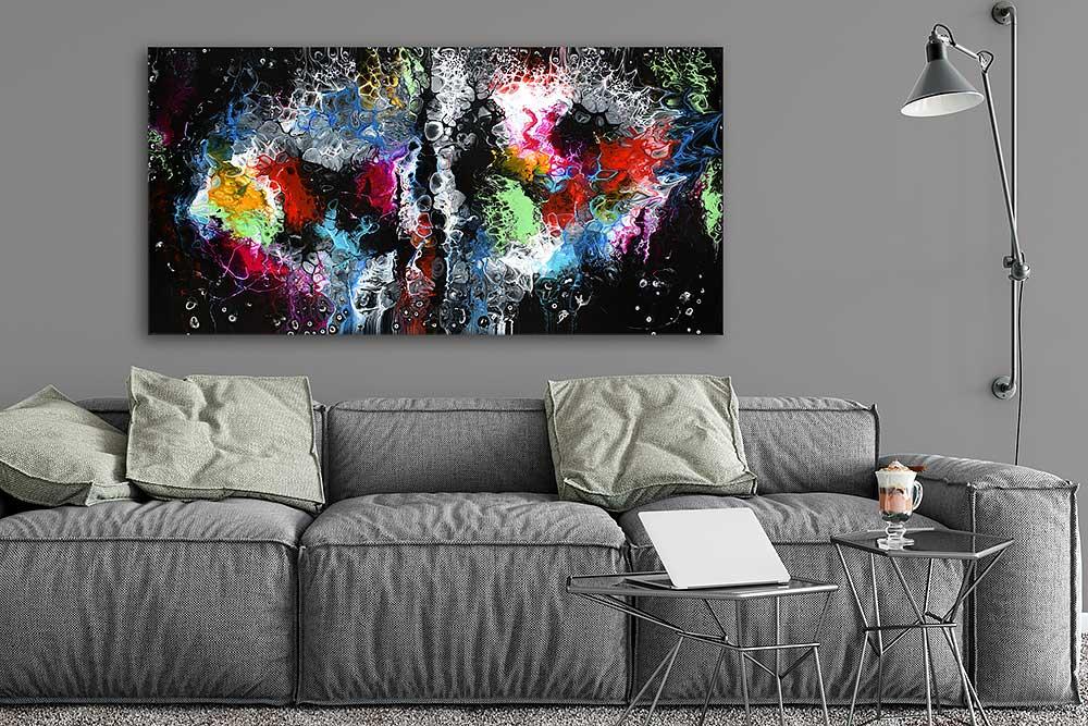 Große Malereien für die Wohnung Lights I 70x140 cm