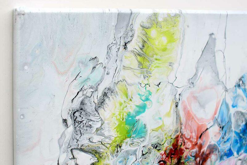 Kunstgemälde mit schönen Farben ist eine zeitlose moderne Dekoration der Wände Fusion V 70x140 cm