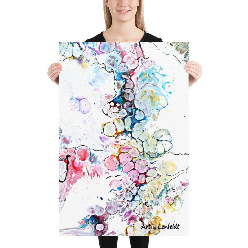 Kunstplakat mit bunte abstrakt Kunst Altitude V 60x90 cm