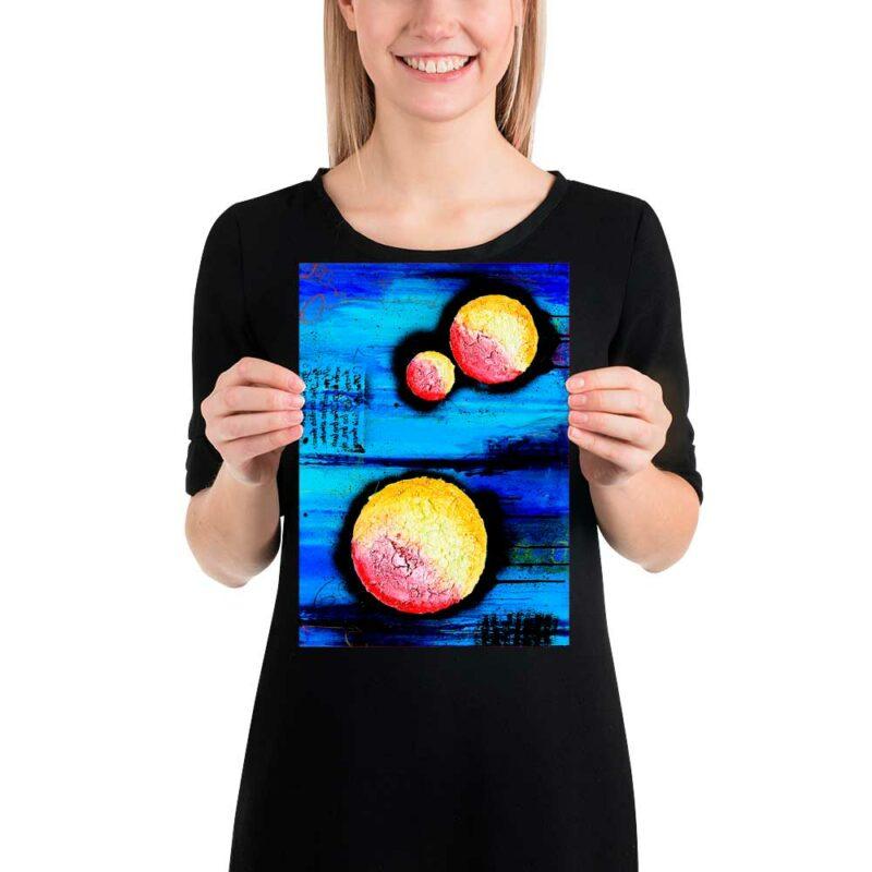 Moderne kleine Kunstplakate für Küche und Bad Sphere I 21x30 cm