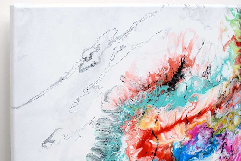Modernes Kunst Gemälde handgemaltes Unikat Fusion IV 100x100 cm