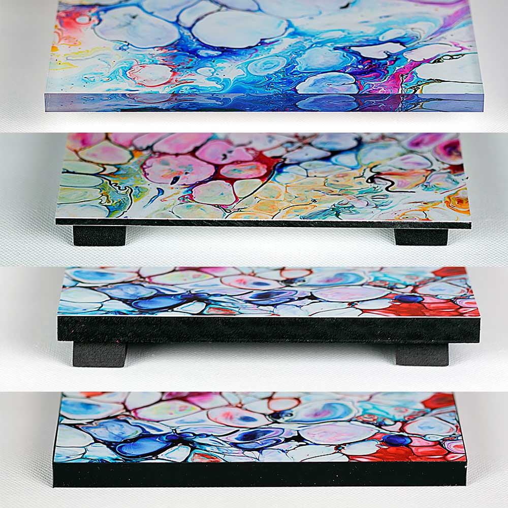 Panele und boards zum Poster aufkleben Dibond Gatorboard Hartschaumplatten Acrylglas