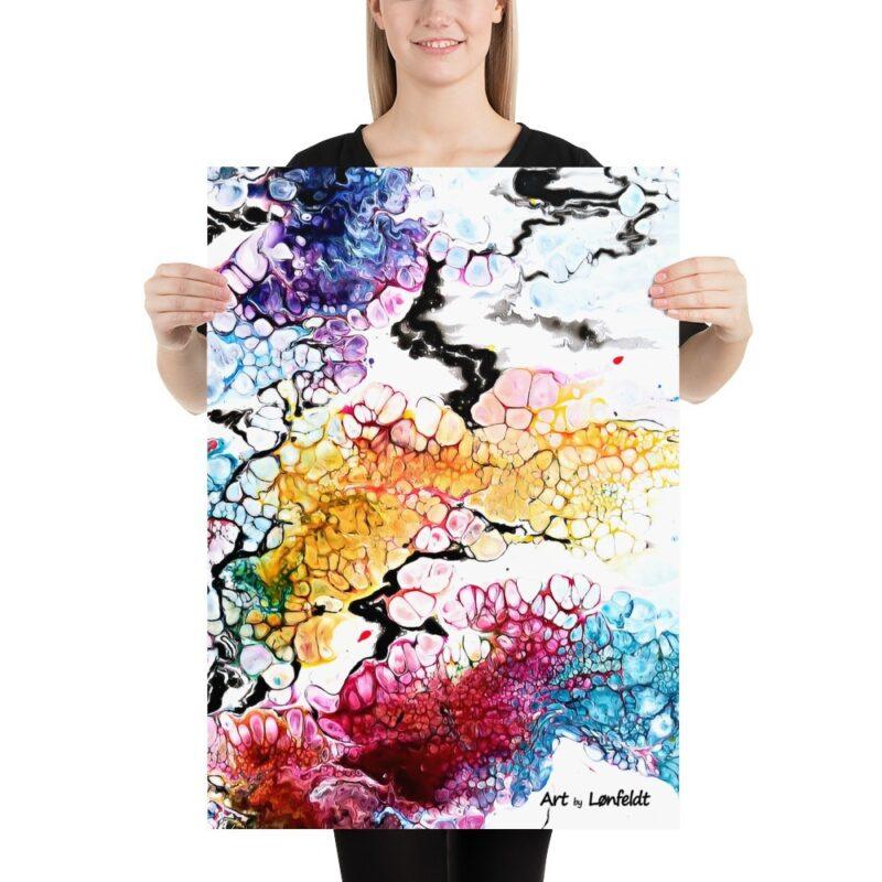 Poster mit abstrakte Kunst Altitude I 50x70 cm