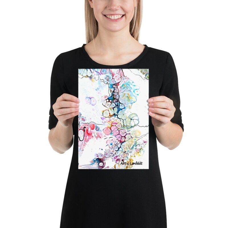 Poster mit Kunst Design Altitude V 21x30 cm