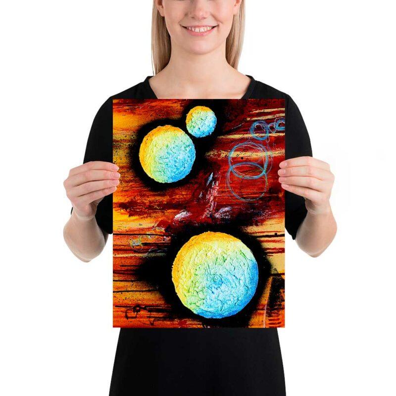 Schöne Wandplakat in moderner Kunst Design Sphere II 30x40 cm
