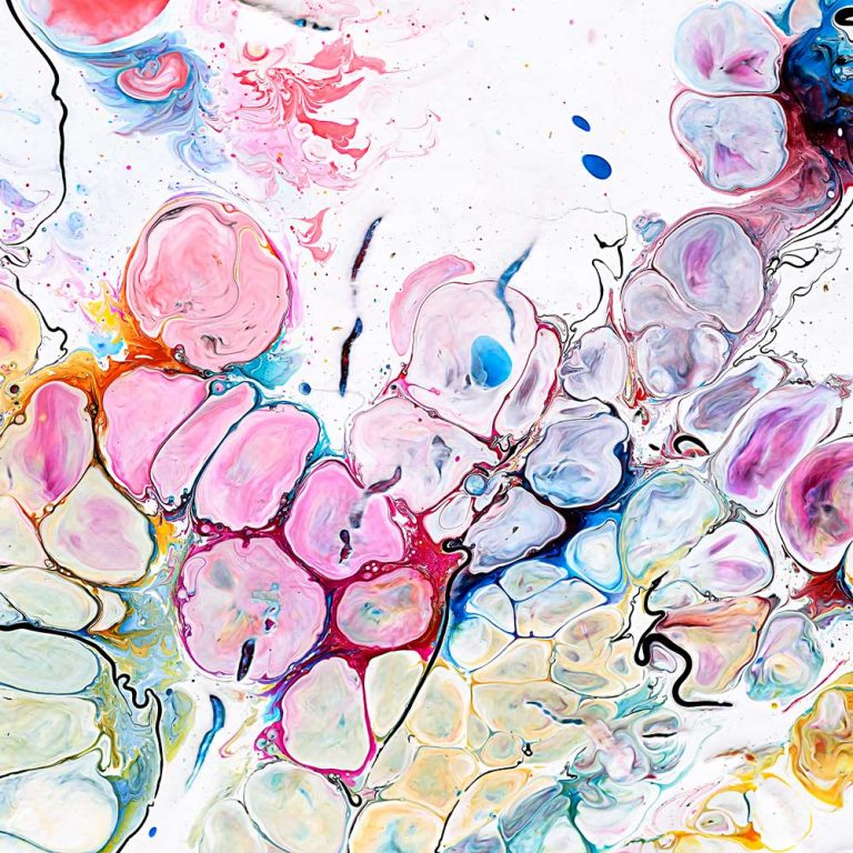 Wandbilder mit abstrakter Kunst Moments III 100x100 cm