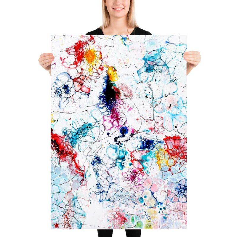 Abstrakte Kunst Poster mit trendigen Farben in einer exklusiven Qualität Elevation I 70x100 cm