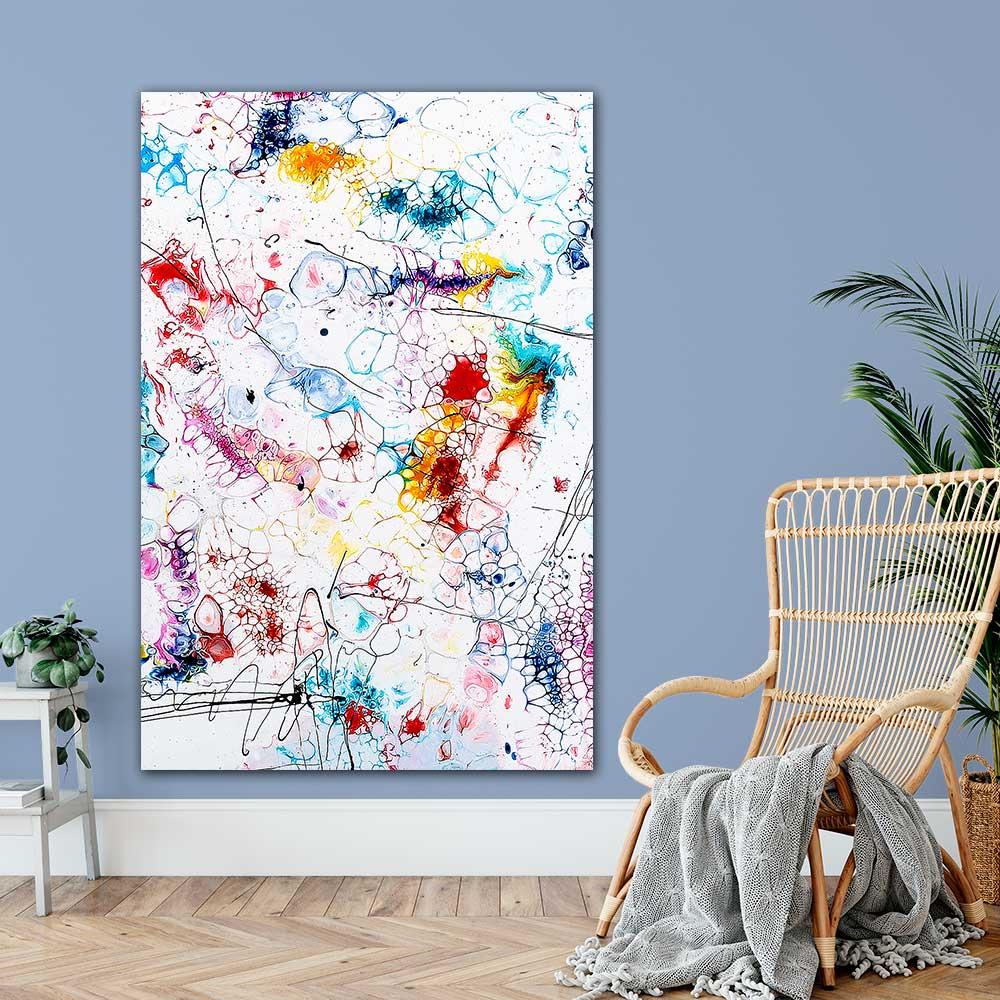 Große Art Poster XXL mit abstraktem Motiv in Hochformat für Zuhause Elevation II 100x150 cm