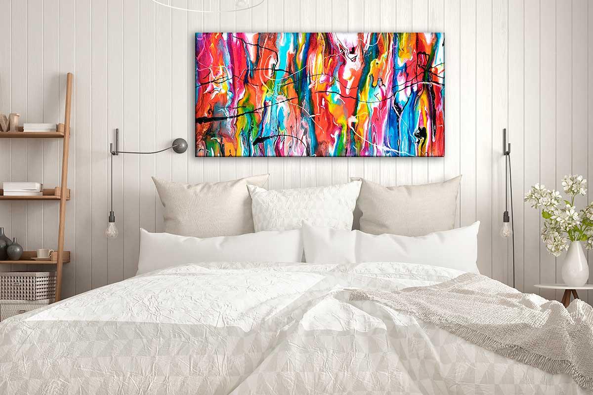 Abstrakte Bilder auf Leinwand für das Schlafzimmer