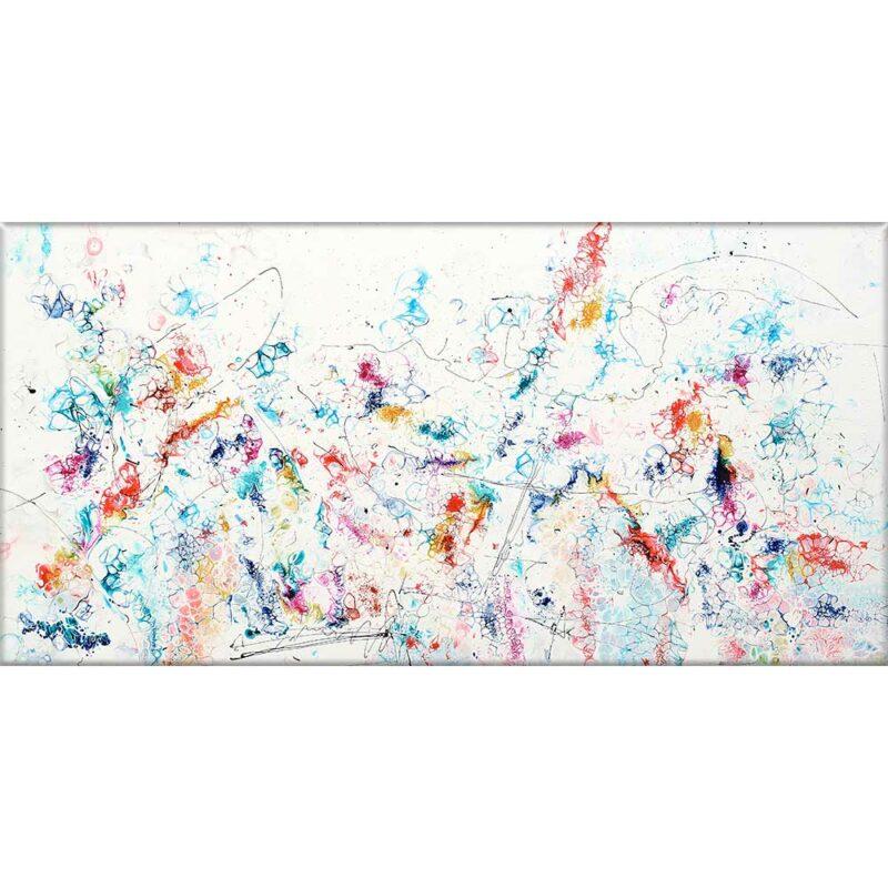 Großer Druck auf Leinwand Gegenwärtige Kunst in modernes Design Prime VII 70x140 cm