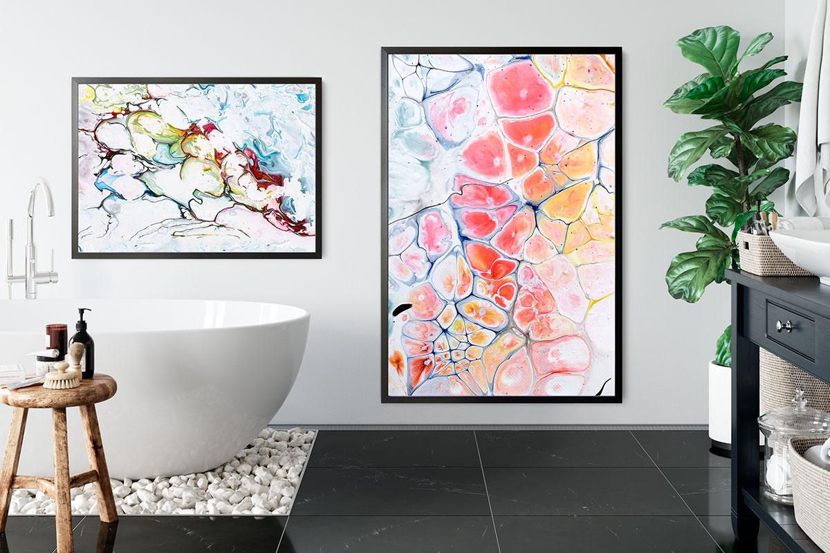 Fine Art Print für Badezimmer