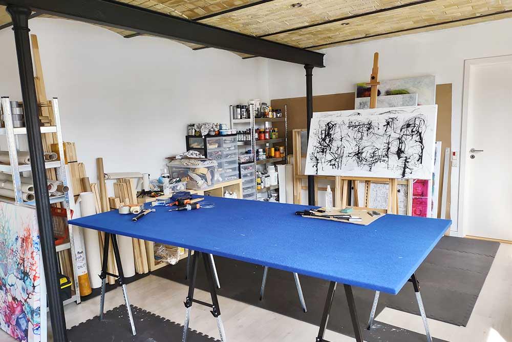 Überblick über mein Atelier